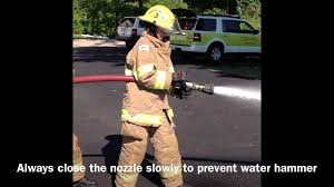 basic firefighter training basic hose handling youtube