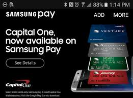Capital One Venture Business Credit Card Samsung Pay Gets Support For Capital One Credit Cards