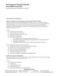 T Sql Resume Sql Report Writing Cc917530image15en Ustechnet10jpg Lets Learn