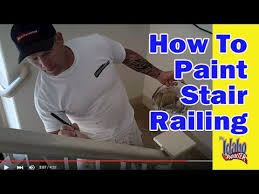 How To Refinish A Wood Banister Painting A Hand Rail How To Paint Stair Railing Youtube