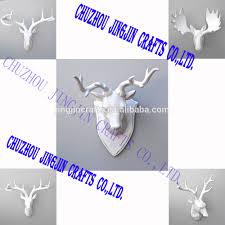 mini small decorative resin bull head wall decor for home hotel