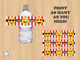 tropical drink emoji printable emoji water bottle labels label stickers