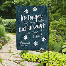 personalized cat gifts pet memorial personalized garden flag paw prints