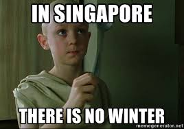 Singapore Meme - in singapore there is no winter there is no spoon meme generator