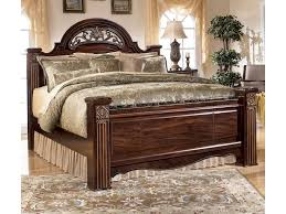Poster Bed by Signature Design By Ashley Gabriela Traditional King Poster Bed