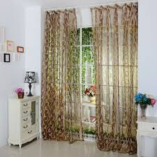 online shop pastoral bird leaves embroidered tulle curtains sheer