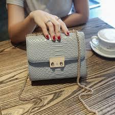 light blue crossbody purse simple alligator crocodile leather mini women crossbody bags small