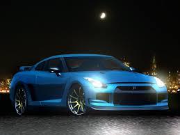 Nissan Gtr Blue - nissan gt r blue night by the alkspain on deviantart