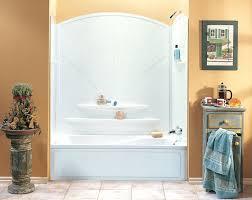 one piece bath shower combo bathtub one piece surround bathroom