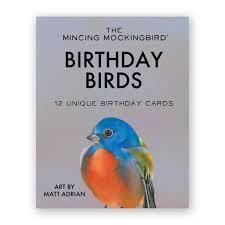 matt adrian bird birthday box set of 12 the mincing mockingbird