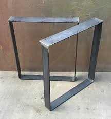 U Shaped Table Legs Raw Steel Table Legs Lightweight Composite Concrete Table Top