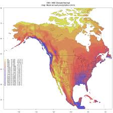 Rainfall Totals Map Current Climate Data For Western North America Western United
