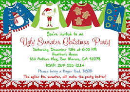 Christmas Party Invitations With Rsvp Cards - christmas party invitations ugly sweater