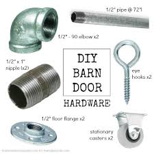 Barn Door Hardware Installation Diy Sliding Barn Door Inexpensive Hardware Remodelaholic