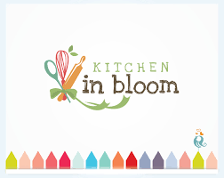 Kitchen Design Business Kitchen In Bloom Cooking Business Logo Food Logo With Spoon