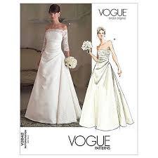 dress pattern john lewis vogue women s bridal original dress sewing pattern 2842 at john lewis
