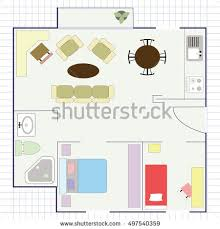 flat projection furniture stock vector 497540338 shutterstock