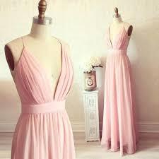elegant pink long chiffon prom dress 2017 summer floor length 2018