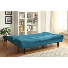Velvet Sofa Bed Coaster Furniture 500098 Transitional Velvet Sofa Bed In Teal
