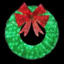 buy 36 in led green sparkling tinsel wreath on sale