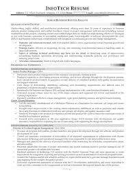 systems analyst resume example business systems analyst resume