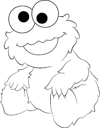 cute cookie monster coloring pages coloringstar