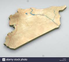 Palmyra Syria Map by Syria Map Physical Map Hand Drawn Illustrated Stock Photo