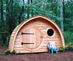 Playhouses For Backyard by Hobbit Hole Playhouse Brings Middle Earth Smials Into Your Backyard