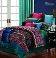 King Size Cotton Duvet Cover Egyptian Cotton Vintage Paisley Comforter Bedding Set King Queen
