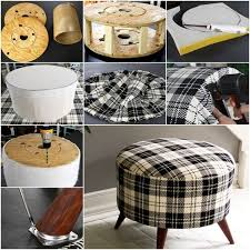 this plaid ottoman looks so adorable for home that you cannot