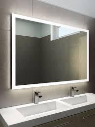 Bathroom Lighting And Mirrors Luxury Backlit Slimline Illuminated Bathroom Mirrors With Astro