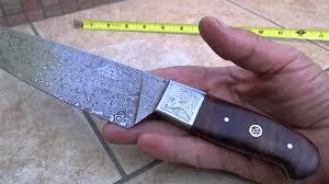 Folded Steel Kitchen Knives Dkc 198 Zen Chef Master Dkc Knives Custom Hand Made Damascus