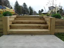 Retaining Wall Stairs Design How To Build A Wood Retaining Wall Farmhouse Design And