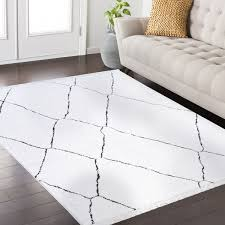 Frieze Area Rug Frieze Collection White Area Rug 8 X 10 Free Shipping