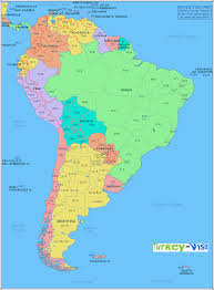 Outline Map Of South America by South America Blank Map