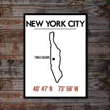 new york poster manhattan artwork typography poster print