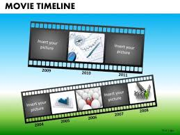 powerpoint templates corporate teamwork movie timeline ppt