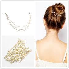 indian jewelry multilayer bridal hair accessories pearls
