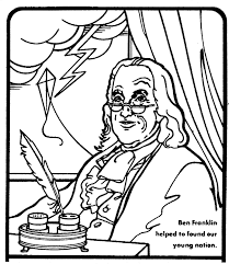 Pages Of Benjamin Franklin Franklin Coloring Pages