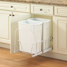 Under Cabinet Pull Out Trash Can Kitchen Rev A Shelf Plastic Pull Out Trash Can Removable Handle