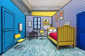 how jewish comic book heroes inspired roy lichtenstein s pop art roy lichtenstein s re imagination of vincent van gogh s bedroom at arles