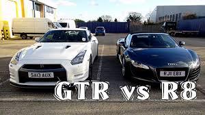 nissan supercar my first supercar audi r8 vs nissan gtr youtube