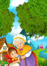 fairy grandmother granddaughter and grandmother stock illustration