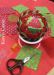 ornament made by krithika made from a styrofoam ball 3 inch