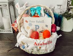 personalized easter basket liner some bunny you easter baskets the momma bun