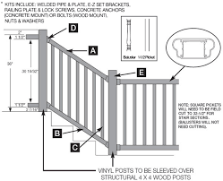kingston railing stair 3 u0027 high specifications hoover fence