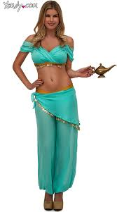 Genie Halloween Costumes Girls Jasmine Halloween Costume Women Genie Costume Halloween