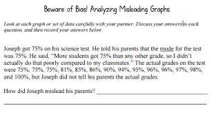 beware of bias analyzing misleading graphs ap american