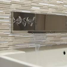 How To Install A Backsplash How Tos Diy Peel And Stick Glass - Peel and stick backsplash glass tiles