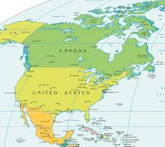 map for usa and canada america canada usa and mexico powerpoint map states and map